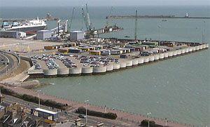 image: Dover port freight ferry terminal RoRo