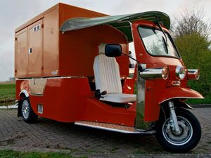 image: Bangkok Tuk Tuk electric light commercial vehicle Netherlands Dutch freight and parcel carriers
