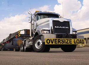 image: US road haulage environment emissions greenhouse fuel consumption truck trailer Volvo Mack