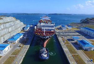 image: Expanded Panama Canal MSC container ship TEU Neopanamax