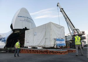 image: Argentina space satellite heavy lift air freight Antonov ARSAT 1 tonnes forwarders