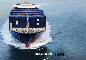 image: France container shipping freight costs box line IBM CMA