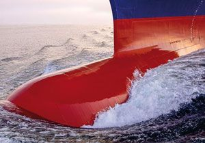 image: CMA CGM France container ships bulbous bows energy fuel consumption emissions