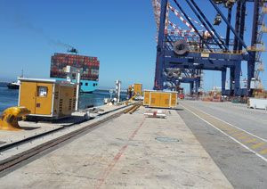 image: South Africa Port of Ngqura freight vacuum technology automated mooring system Transnet