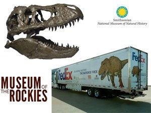 image: US fossil dinosaur freight logistics Nation�s T-Rex Tyrannosaurus Smithsonian National Museum FedEx
