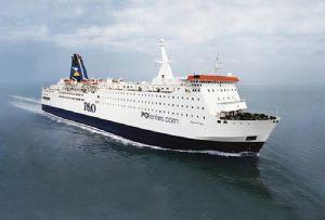 image: UK ferries P&O freight trucks English Channel trailers Covid-19 coronavirus