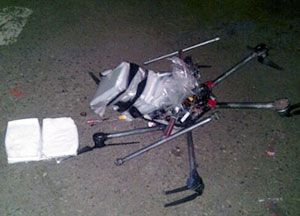 image: US Mexico freight delivery logistics drones methamphetamine supply chain