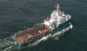 image: Nigeria France pirate attack oil support vessel container shipping sea freight