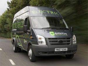 image: UK electric commercial vehicles truck freight shipping telemetry