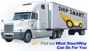image: SmartWay EPA US freight intermodal logistics shipping heavy haulage transportation anti pollution