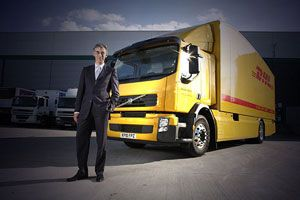 image: Germany logistics express shipping supply chain freight forwarding hybrid truck