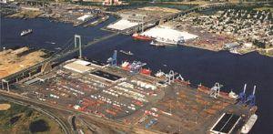 image: Packer Avenue Marine Terminal, Shipping, freight, sea freight,  Mediterranean Shipping Co, Philadephia, Port of Philadephia, Robert C. Blackburn, Claudio Bozzo, Hamburg Sud
