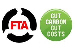 image: UK freight transport road haulage operators carbon cutting green environment association