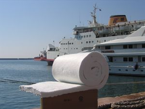 image: Morgan thermal ceramic fire insulation freight ferries cargo vessels cruise ship