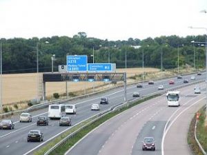 image: Haulage, logistics, road freight, trucks, lorry, M2, motorway, Kent, road improvement, road investment, Paul Clark, Department for Transport, Channel Ports, Dover, Folkestone