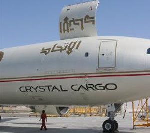 image: Air freight, Etihad Crystal Cargo, Abu Dhabi, Baghdad, Airbus A-300