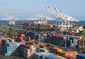 image: US ILWU PMA container shipping cargo freight dispute labour Cesar Chavez