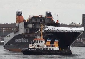 image: Germany Norway UK freight RoRo ferry RoPax Western Geco Siem CalMac Caledonian MacBrayne euro financial trouble