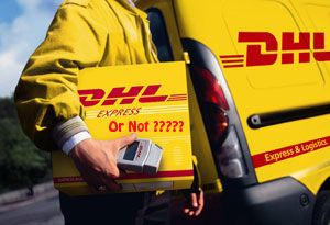 image: DHL viral scam parcel freight carrier Handy Shipping Guide FedEx UPS