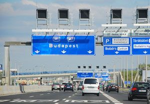 image: Hungary UK road haulage goods vehicles ANPR Dartford Crossing barriers M25 M0 motorway network