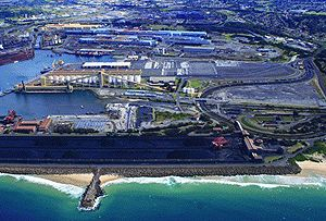 image: New South Wales NSW port shipping container terminal bulk freight infrastructure security handling