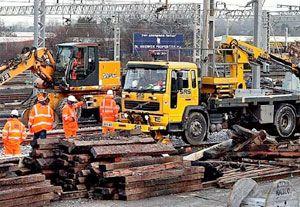 image: Network Rail freight cargo infrastructure DB Schenker GB Railfreight Freightliner
