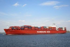 image: Hamburg Sud Chile Port of Iquique container shipping high sulfur heavy fuel oil (HFO) marine gas oil (MGO) Electrolux