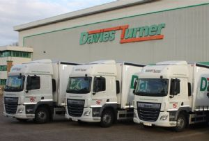 image: UK road haulage freight forwarder third party logistics operator trucks Euro VI Brexit Davies Turner