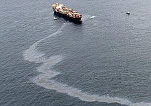 image: IMO International Chamber of Shipping ICS freight vessel oil spillage merchant fleet greenhouse gases emission reduction