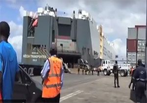 image: H�egh Autoliners Kenya Bs/L vessel weapons munitions port ocean ship Shamus Mangan drugs