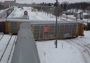 image: Canadian Pacific intermodal rail freight Norfolk Southern Department of Justice merger CSX