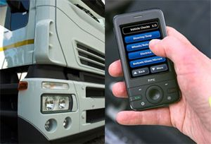 image: UK Truckcom smartphone consignors tachograph road haulage  cargo hauliers fleet management