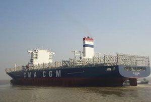 image: CMA CGM Tigris logistics shipping line TEU container service freight intermodal expertise Africa Mediterranean Europe