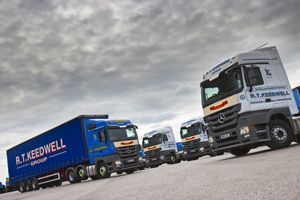 image: Mercedes Somerset road haulage cargo freight truck logistics