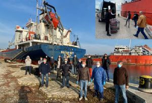 image: Italy, Azerbaijan, seafarers, stranded, crew, Gobustan, Sultan Bey, Covid-19, war, Armenia, Stella Maris, Ravenna, port,