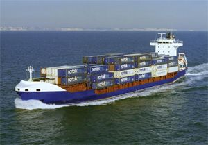 image: North Sea container ship TEU RoRo car Carrier freight
