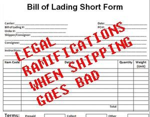 image: Europe shipping line freight forwarding agent road haulage operator multimodal logistics legal rulings maritime advocate terms of carriage CMR SDR 8.33 Bills of Lading B/L