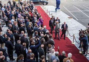 image: DSV HQ freight logistics transport terminal Denmark Prince Consort Prince Henrik