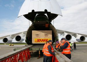 image: DHL air freight forwarding cargo SameDay Speedline