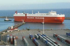 image: South Africa freight vehicle logistics car carrier vessel gross tonnes cargo export heavy lift