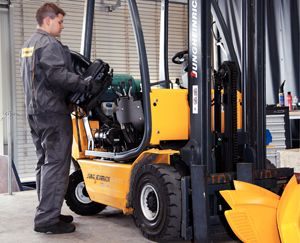 image: Jungheinrich materials handling fork truck logistics