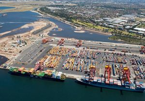 image: Australia express freight road haulage container terminal warehousing port TEU