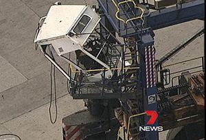image: Australia accident quayside ITF Hutchison ports ICTSI autonomous container shuttle carrier