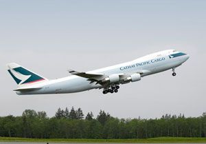 image: Cathay Pacific Boeing 747-8 freighter aircraft cargo fleet $1 billion