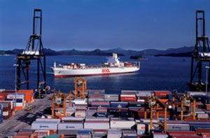 image: Transpacific Stabilization Agreement (TSA) container rates shippers carrier freight cartel lines cargo volumes fleets new builds vessels