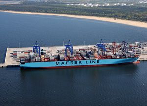 image: Baltic freight box carrier container vessel