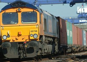 image: UK rail freight government strategy report intermodal transport track borne bulk carriage Freightliner container ports