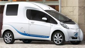 image: Mitsubishi  i-MiEV Cargo Cargo Smiths Commercial Electric Vehicles Order Netherlands Eneco electrically powered electric van truck cars Tanfield Ecomobiel Urgenda Foundation Tokyo Motor show Randy D�Hollosy Ampere