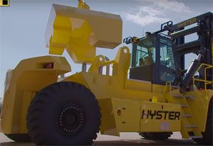 image: Hyster Netherlands forklift truck tonnes 20 foot freight container