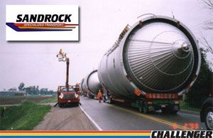 image: Canadian Truckers Heavy Lift Haulage Specialists Challenger Motor Freight Cambridge, Ontario Sandrock Specialized Carriers fleet trucking